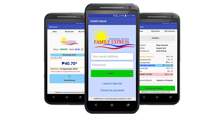 Family Express - Online Money Transfer - Send Money to the Philippines